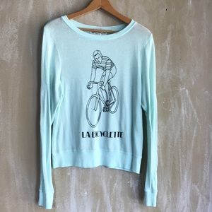 Wildfox Small teal labicyclette cotton